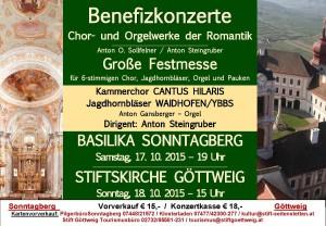 Flyer Benefiz - Sonntagberg und Göttweig