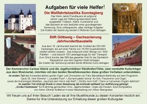 Flyer Sonntagberg -Göttweig Rückseite